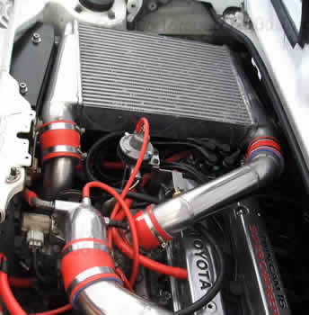 Top mounted intercooler